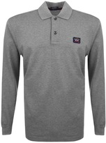 Paul & Shark Paul And Shark Logo Polo T Shirt Grey