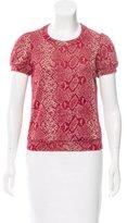 Isabel Marant Jacquard Short Sleeve T-Shirt