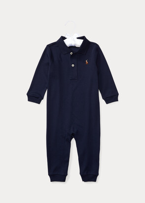 Ralph Lauren Cotton Interlock Polo Coverall