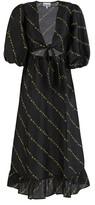 Ganni Silk midi dress
