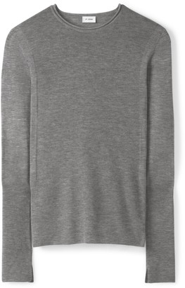 St. John Cashmere Fitted Crew Neck Sweater