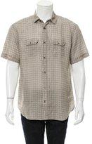 Eleventy Printed Linen Shirt w/ Tags