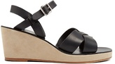 A.P.C. Classic leather and suede wedges