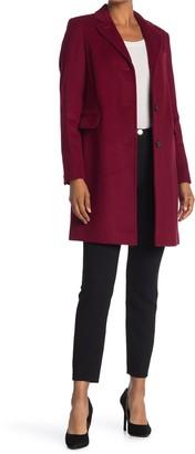 Lauren Ralph Lauren Reefer Felted Wool Blend Coat