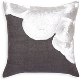 Jonathan Adler Malachite Satin Stitch Square Throw Pillow