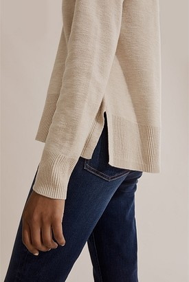 Country Road Cotton Linen V-Neck Knit