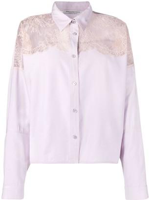 Philosophy di Lorenzo Serafini Lace-Panel Long-Sleeve Shirt