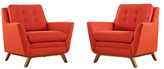 Modway Beguile Armchairs (Set of 2)
