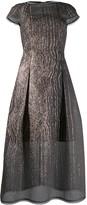 Talbot Runhof curve organza cloque dress