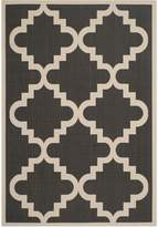Safavieh Courtyard Collection CY6017-266 Black and Beige Indoor/Outdoor Area Rug, 8 Feet by 11 Feet 2-Inch