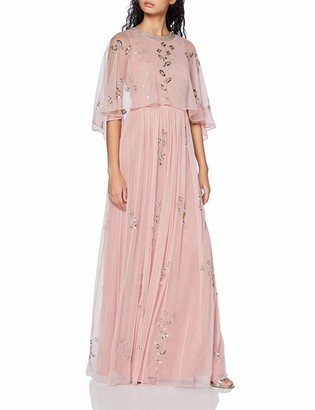 Frock and Frill Women's Irma Cape Top Minimal Embellished Maxi Dress Party