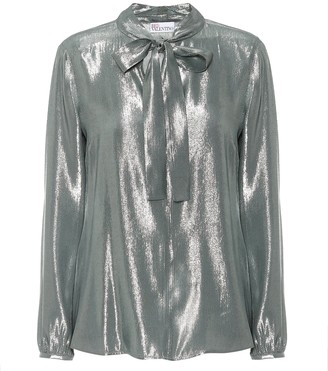 RED Valentino metallic blouse
