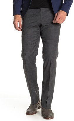 """Tommy Hilfiger Grey Blue Plaid Stretch Suit Separates Trousers - 30-34"""" Inseam"""