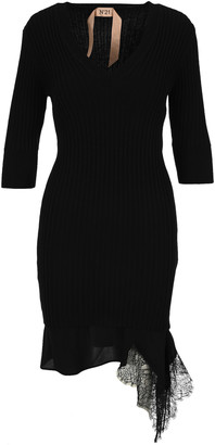 N°21 N21 V-neck Lace-hem Dress
