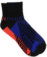 David Jones 2 Pack Geometry Quarter Crew Sock