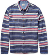 Faherty - Durango Cpo Striped Cotton Overshirt