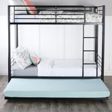 Walker Edison Black Steel Roll-out Twin Trundle Bed Frame