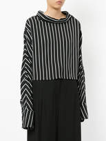 Taylor striped boat neck top