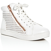 Steve Madden Girls' Perforated Hightop Sneakers - Little Kid, Big Kid