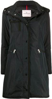 Moncler Logo Patch Hooded Coat