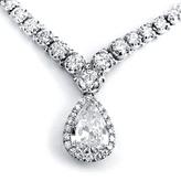 Kobelli Jewelry Kobelli 10 4/9 CT TW Diamond 18K White Gold Eternity Tennis Necklace