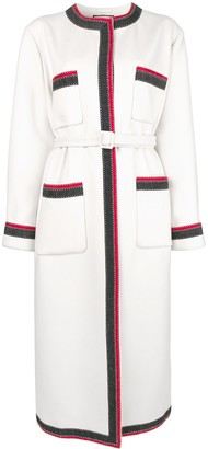 Gucci Contrast Trim Midi Coat