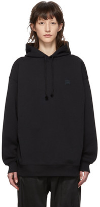 Acne Studios Black Oversized Face Hoodie