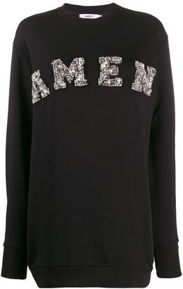 Amen long embellished sweater