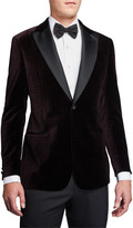 Emporio Armani Men's G-Line Geo-Pattern Velvet Dinner Jacket