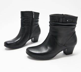 Earth Leather Heeled Ankle Boots - Calgary Winnipeg