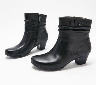 Earth Leather Heeled Ankle Boots - Calgary Winnipeg