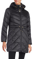 Ellen Tracy Chevron Quilted Down Jacket