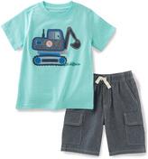 Kids Headquarters Blue Dig Truck Tee & Gray Shorts - Infant & Boys