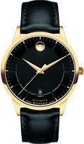 Movado 0606875 1881 Automatic gold-plated and leather watch