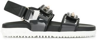 Valentino Rockstud touch-strap sandals