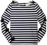 Kate Spade Stripe Top (Toddler/Kid) - French Navy/Cream - 2T
