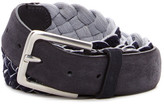 Tommy Bahama Barrier Reef Leather & Braided Reversible Belt