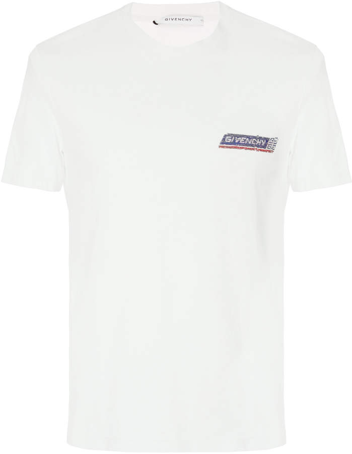 Givenchy Sequined Logo-Printed Cotton-Jersey T-Shirt