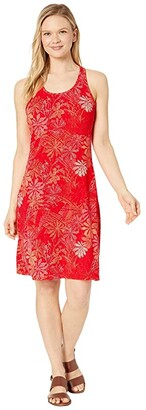 Columbia Peak To Pointtm Knit Dress (Bright Poppy Got Florals) Women's Dress