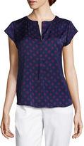Liz Claiborne Cap-Sleeve Popover Shirt