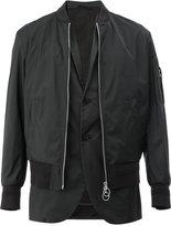Neil Barrett classic bomber jacket - men - Polyester/Spandex/Elastane/Cupro/Viscose - L