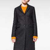 Paul Smith Women's Dark Grey Wool-Cashmere Epsom Coat