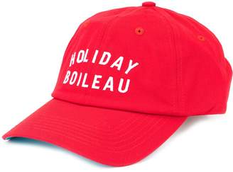 Holiday logo embroidered cap