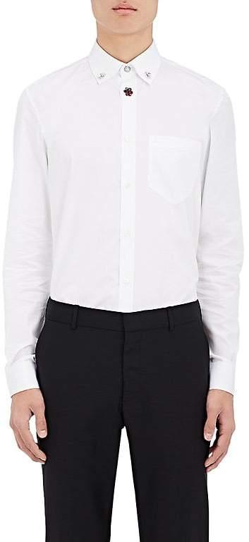Givenchy Men's Embellished Cotton Poplin Shirt