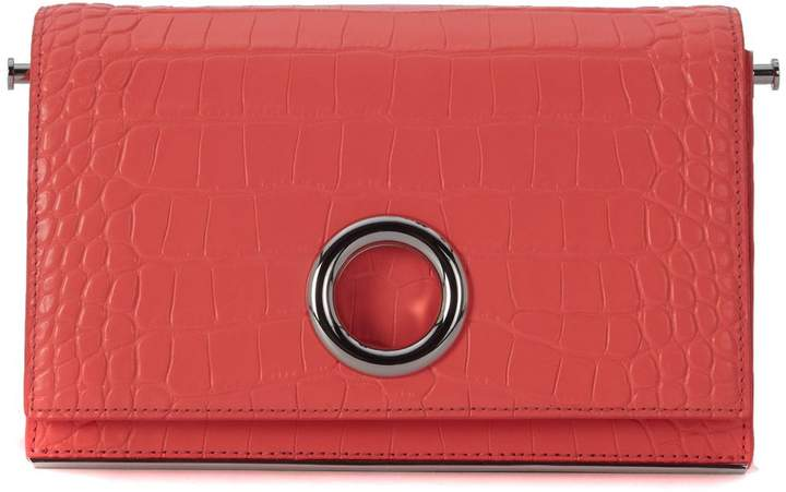 Alexander Wang Riot Fluo Coral Red Leather Bag