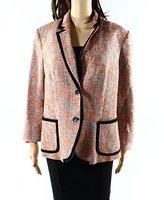 Anne Klein Women's Textured Jacquard Framed Jacket