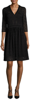 Cynthia Steffe Lynn Lace Fit And Flare Dress