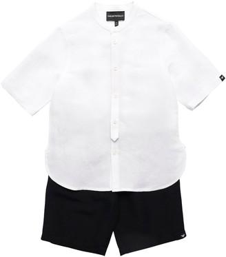 Emporio Armani Cotton S/S Shirt & Shorts