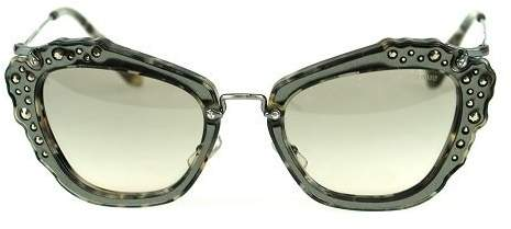 Miu Miu 04Qs DHE3H2 Marble White/Black 04Qs Cats Eyes Sunglasses Lens Categor