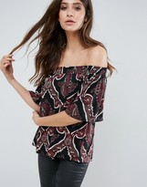 AX Paris Printed Bardot Top